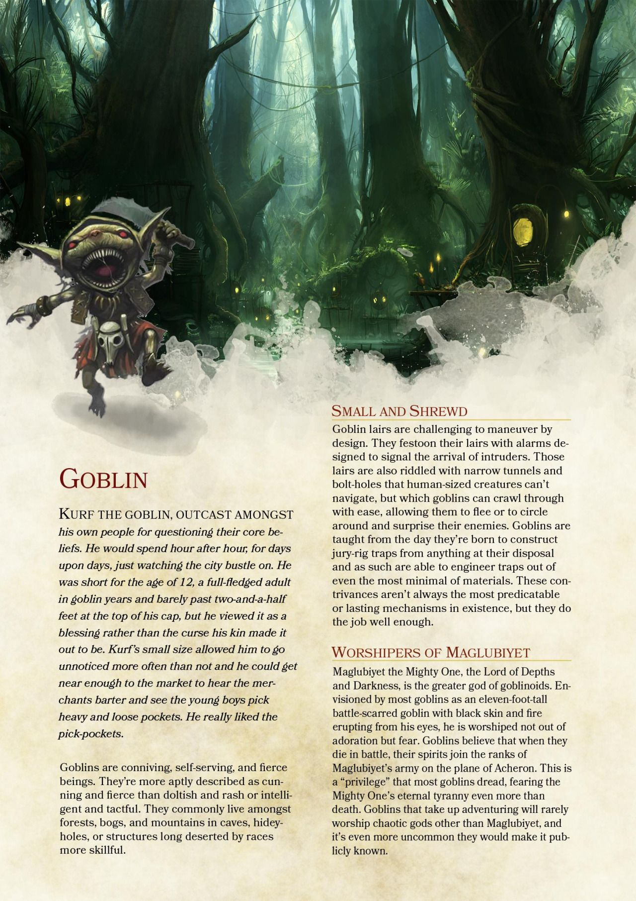 Goblin 5th Edition 5e In D D 5e Races
