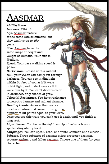 aasimar abilities