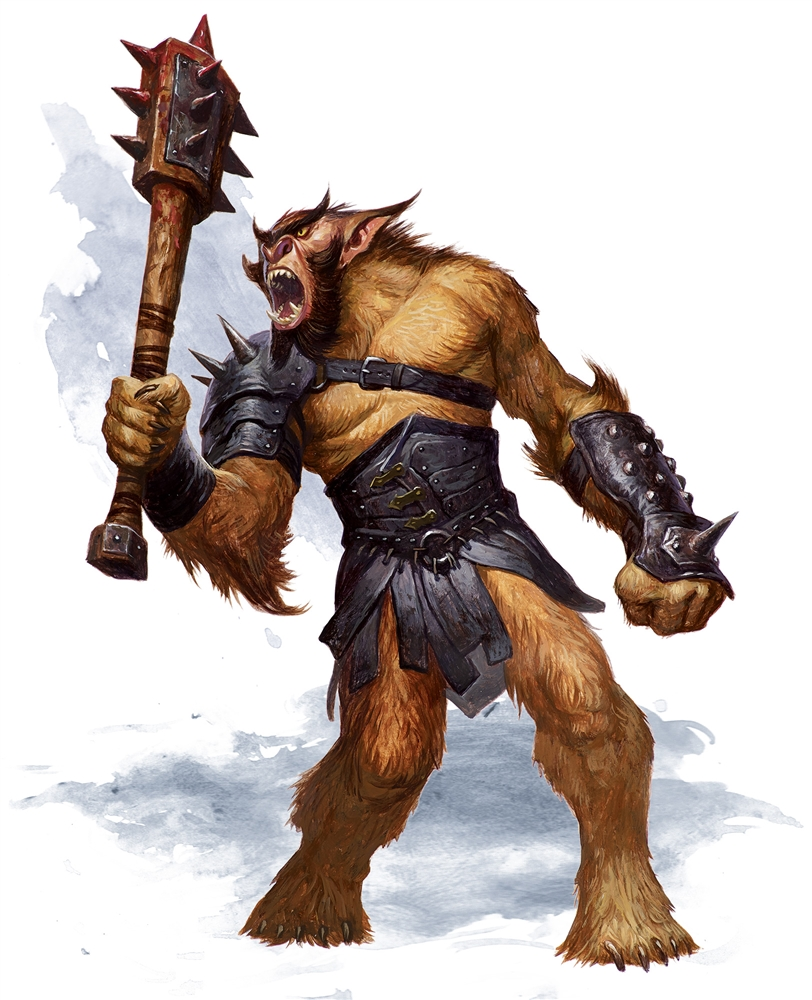bugbear 5e (5th Edition) race in dungeons and dragons